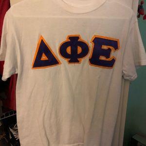 delta phi epsilon sorority letters shirt